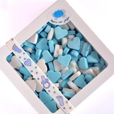Pepermunthartjes mix blauw-wit