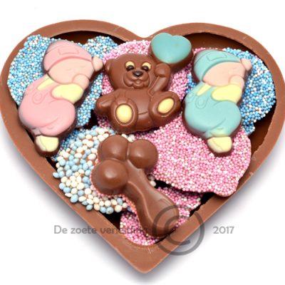 Geboorte chocolade hart