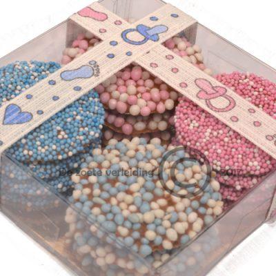 Geboorte flikken roze blauw mix